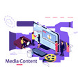 isometric concept education for vector image