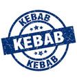 kebab blue round grunge stamp vector image vector image