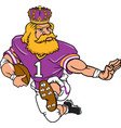 king sports logo mascot football vector image vector image