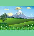 landscape - mountain range on the horizon vector image vector image