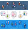 Lifestyle People Banner Set vector image