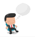 Man Sit down Thinking Bubble Text vector image vector image