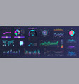 modern neon ui ux and kit elements interface vector image vector image