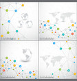 Modern set of infographic network template vector image vector image