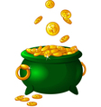 Pot of gold vector image vector image