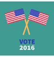 President election day 2016 Voting concept Two vector image