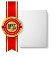 Realistic blank hardcover book front view with vector image vector image