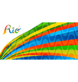 Rio brazil colorful banner design for sport games vector image vector image