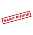 Saint Pierre Rubber Stamp vector image vector image