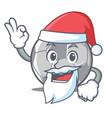 santa football character cartoon style vector image vector image
