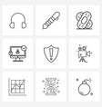 set 9 ui icons and symbols for shield secure vector image vector image
