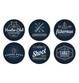 Set of Hunting Camping Sport Elements can be used vector image vector image