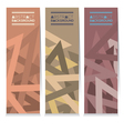 Set Of Three Modern Graphic With Vintage Color vector image