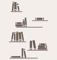 Simply retro books vector image vector image
