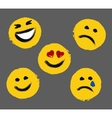 Smiley Faces Painted Emoticons vector image vector image