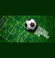 soccer championship cup background football vector image