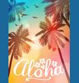 summer beach aloha inspiration card vector image vector image