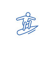 surfer on wave line icon concept surfer on wave vector image vector image