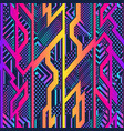 vibrant geometric seamless pattern vector image vector image