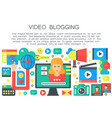 - video blogger concept - computer screen with vector image vector image