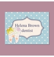 Vintage business card for dentist vector image vector image