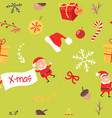 wallpaper design with elves acorns and branches vector image vector image