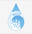 water icon abstract logo design element vector image
