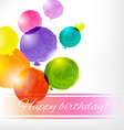Watercolor Balloon Card vector image vector image