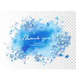 wedding thank you card vector image vector image