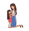 woman with daughter avatar character vector image vector image