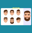 working people business man avatar iconsflat vector image
