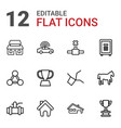 12 eps icons vector image vector image