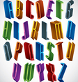 3d font tall thin letters vector image