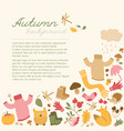 autumn sky background concept vector image vector image