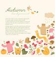 autumn sky background concept vector image