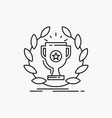 award cup prize reward victory line icon isolated vector image vector image