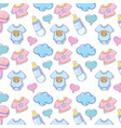 baby clothes and elements background vector image vector image