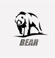 bear stylized silhouette logo template vector image vector image