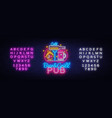beer grill neon sign design template vector image