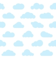 blue clouds seamless pattern vector image vector image