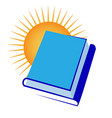 book stacked together with sun vector image vector image
