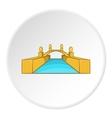 Bridge icon cartoon style vector image vector image