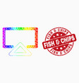 bright pixelated display icon and distress vector image vector image