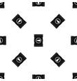 chips plastic bag pattern seamless black vector image vector image