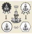 christmas candle vintage symbol emblem label vector image vector image