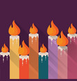 color candles with flame vector image vector image
