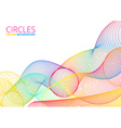 Colorful Abstract Circles vector image vector image