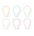 Colors light bulb icons vector image vector image