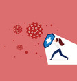 coronavirus quarantine protection fight concept vector image
