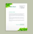 eco green leaf letterhead design vector image vector image